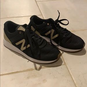 New Balance suede black & tan, size 8